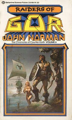 Publication: Raiders of Gor  Authors: John Norman Year: 1976-06-00 ISBN: 0-345-25184-9 [978-0-345-25184-8] Publisher: Ballantine Books  Cover: Boris Vallejo