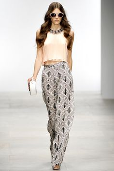 Printed pants.  Holly Fulton spring 2012 ready-to-wear.