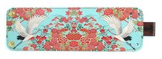 Leather cuff / wallet wristband  Oriental Flowers by tovicorrie, $32.00