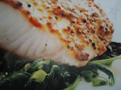Maple-Dijon Cod from Clean Eating Magazine, but I use Talapia instead of Cod.