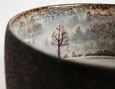 Etsy - Sobre JuliaSmithCeramics etched and painted to create a rustic look but with detailed images on it as well