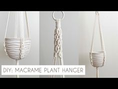 DIY: MACRAME PLANT HANGER TUTORIAL | INTERMEDIATE MACRAME | HOW TO MAKE A PLANT HANGER - YouTube Macrame Hanging Planter, Hanging Planters, Crafts To Make, Diy Crafts, Macrame Projects, Macrame Tutorial, Macrame Knots, Holiday Gifts, Weaving