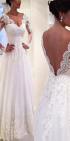 Charming Tulle V-neck Neckline Natural Waistline A-line Wedding Dress With Beaded Lace Appliques