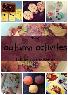 Easy and simple autumn and fall crafts and activities for toddlers and preschoolers.