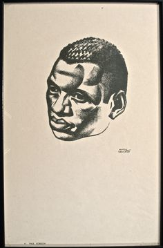 Hugo Gellert (1892–1985) portrait of his friend Paul Robeson. Lithographic crayon and graphite on paper, 1928 National Portrait Gallery, Smithsonian Institution