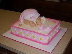 Baby Shower Sheet Cakes for Girls | Pink Baby Bottom — Baby Shower