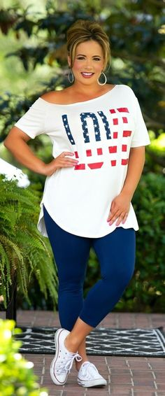 Perfectly Priscilla Boutique - Raise Your Flag Top, $29.00 (http://www.perfectlypriscilla.com/raise-your-flag-top/)