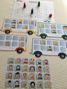 Tall- og mengdetrening – Språkhjerte Games For Kids, Activities For Kids, Lisa Thomas, Math School, Busses, Anton, Board Games, Preschool, Gallery Wall