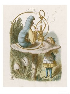 Alice meets the blue caterpillar posters, canvas prints, framed pictures, postcards & more by Sir John Tenniel. John Tenniel, Alice And Wonderland Quotes, Adventures In Wonderland, Wonderland Party, Caterpillar Quotes, Fail Blog, Go Ask Alice, Lewis Carroll, Through The Looking Glass