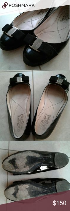 Salvatore Ferragamo Varina ballet flats Patent leather flats with leather soles. I can adjust the price if you plan on using Poshmark's authentication service. Salvatore Ferragamo Shoes Flats & Loafers