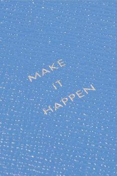 Smythson - Panama Make It Happen Textured-leather Notebook - Sky blue - one size