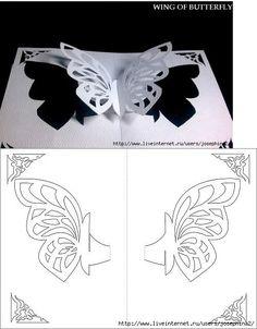 Uitgesneden vlindervleugels