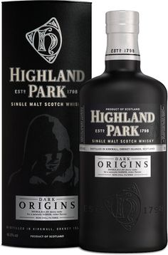 "Highland Park Dark Origins Single Malt #Scotch #Whisky.  Matured in double first fill sherry casks, this whisky ""is a worthy tribute to a rebel,"" according to Forbes. 