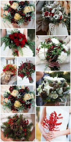 Christmas Wedding bouquets Inspiration Ideas