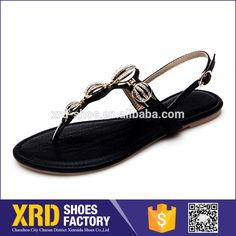 2017 PU Sandal Leather Sandals Custom Flat Woman Sandal