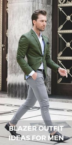 Edgy Ways To Wear Blazer Jacket For Men Blazer jacket outfit ideas for menBlazer jacket outfit ideas for men Suits Outfits, Blazer Outfits Men, Mens Fashion Blazer, Casual Outfits, Men Blazer, Mens Blazer Styles, Fashion Mode, Mens Fashion Blog, Style Fashion