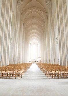 What a long aisle to walk if one were to marry here. (Grundtvig's Church, Copenahgen, Denmark)
