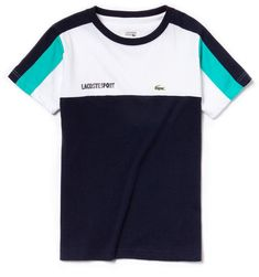In ultra-dry technical jersey, this crew neck Lacoste Sport Tennis tee is brightened by iconic colorblocks. Polo Shirt Design, Polo Design, Shirt Print Design, Tee Shirt Designs, Tee Design, Gents T Shirts, Polo Tee Shirts, Long Sleeve Tee Shirts, Boys T Shirts