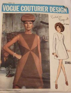 Mom made two dresses from this pattern - white wool and brown crepe.