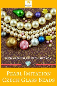 Czech Glass Pearl Imitation Beads Different Sizes and Shapes! - Buy now with discount! www.CzechBeadsExclusive.com/+pearl Hurry up - sold out very fast! SAVE them! #czechbeadsexclusive #czechbeads