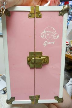 VOGUE 50's ORIGINAL GINNY DOLL CARRY CASE TRUNK WITH CLOTHING HANGERS & MORE! | eBay