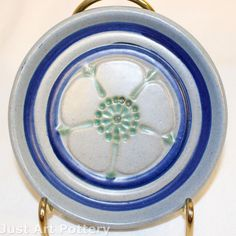 University of North Dakota Pottery Floral Pin Tray (Huck) from Just Art Pottery