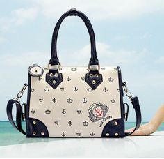 $39.99 USD   Nice New Style Anchor Shouder bag Hand bag   1.Cool and Fashion Style.  2.Size:31*23*13cm .Pu leater.