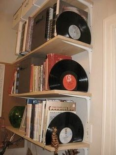 Make bookends. | Community Post: 19 Ways To Reuse Vinyl Records