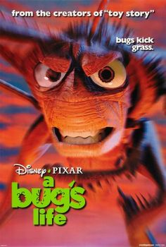 """""""A Bug's Life"""" Original Movie Poster Disney Pixar for sale - see the web site Animated Movie Posters, Movie Posters For Sale, Disney Movie Posters, Original Movie Posters, Disney Movies, Pixar Movies, Computer Animation, Animation Film, Bugs"""