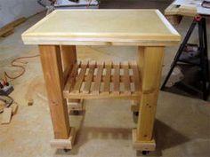 10 DIY Kitchen Island Woodworking Plans: DIY Network's Free Kitchen Cart Plan