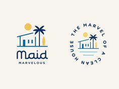 Logo Discover Maid Marvelous Logo for a San Diego home cleaning service Creative Logo, Logo Construction, Construction Companies, Logo Branding, Corporate Branding, Inspiration Logo Design, Logo Design Trends, Designers Gráficos, Logo Minimalista