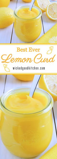 Homemade Lemon Curd ~ Luscious, creamy and smooth, bright sunny yellow and bursting with fresh lemony citrus flavor, our Homemade Lemon Curd recipe is made using foolproof techniques. Perfect for gift...