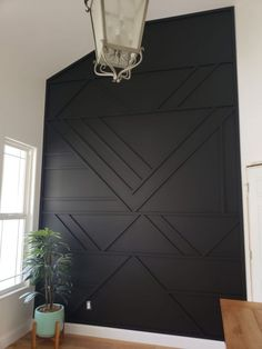 Modern Accent Wall Modern Accent Wall Madsen Remodeling MadsenRemodel House Interiors Just finished up this smaller but super cool accent wall Black Wall nbsp hellip Home Renovation, Home Remodeling, Kitchen Remodeling, Cheap Home Decor, Diy Home Decor, Black Walls, First Home, My New Room, Home Design