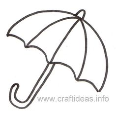 Free Printable Crafts Ideas Patterns | Print out this umbrella for the kids to color on rainy days.