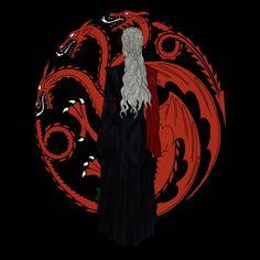 Daenerys Targaryen by Oksana Gerardbur Daenerys Targaryen Art, Khaleesi, Got Dragons, Mother Of Dragons, Game Of Thrones Art, Cersei Lannister, Iron Throne, Valar Morghulis, Homemade Home Decor