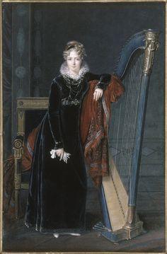Louis-François Aubry, Portrait de la baronne de Benoist