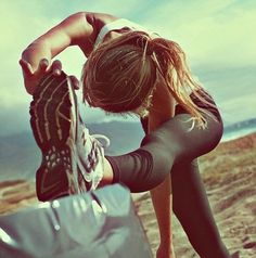 Stretching / Beach