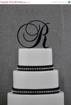 ON SALE Wedding Cake Topper  Initial Wedding by ChicagoFactory, $15.00