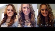 1 Curling Method for 3 Different Looks, via YouTube. Cute!