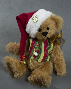 Joshua Aaron - about 12 inches - German Mohair. #artistbear #artistbears #teddybear #christmas #vickylougher Teddybear, Bears, German, Toys, Artist, Christmas, Handmade, Animals, Deutsch