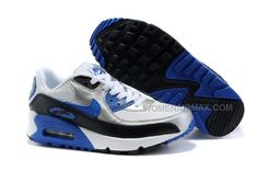 http://www.womenairmax.com/nike-air-max-90-womens-shoes-wholesale-slivery-white-black-blue.html NIKE AIR MAX 90 WOMENS SHOES WHOLESALE SLIVERY WHITE BLACK BLUE Only $89.00 , Free Shipping!