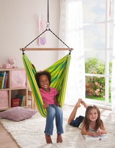 The Green Lori Organic Child's Hammock Swing Chair will be a favorite place for…