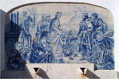 O Milagre das Rosas em Azulejo, Santa Isabel de Portugal