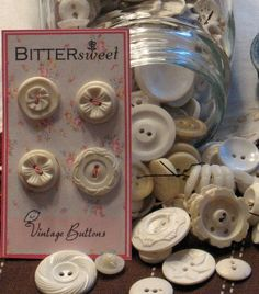 "So amazing to see vintage buttons that include ones on clothing you had ""back when"" and remember the buttons and piece of clothing immediately!"