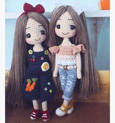 Irresistible Crochet a Doll Ideas. Radiant Crochet a Doll Ideas. Crochet Girls, Cute Crochet, Crochet Toys, Knit Crochet, Amigurumi Patterns, Amigurumi Doll, Doll Patterns, Crochet Doll Pattern, Crochet Patterns
