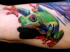 Red-eyed tree frog by Phil Garcia Tree Frog Tattoos, 3d Tattoos, Animal Tattoos, Body Art Tattoos, Cool Tattoos, Arm Tattoo, Samoan Tattoo, Polynesian Tattoos, Sleeve Tattoos