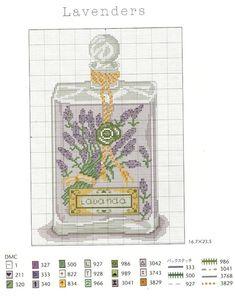 point de croix parfum lavande - cross stitch lavender perfume