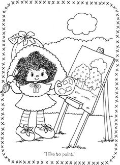 USED COLORING BOOK~Strawberry Shortcake and Her Friends - Bonnie Jones - Álbuns da web do Picasa