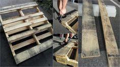 on fabrique un cache-piton en palette Euro - la première étape de la fabrication d'une suspension vintage
