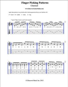 Finger Picking Patterns: Classical | Discover Guitar Online, Learn to Play Guitar